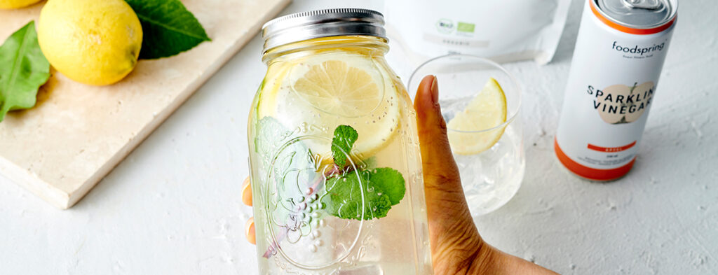 Infused Water met appelazijn en citroen