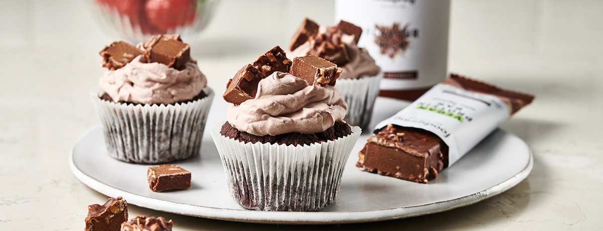 Vegan Hazelnut Crunch Cupcakes