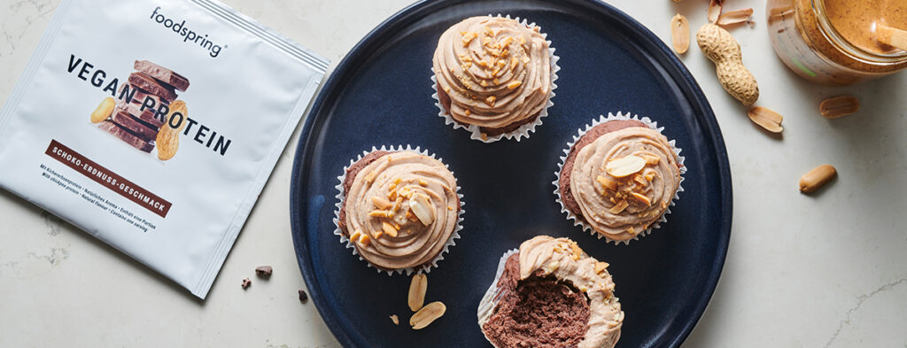Vegan Chocolate Peanut Cupcakes